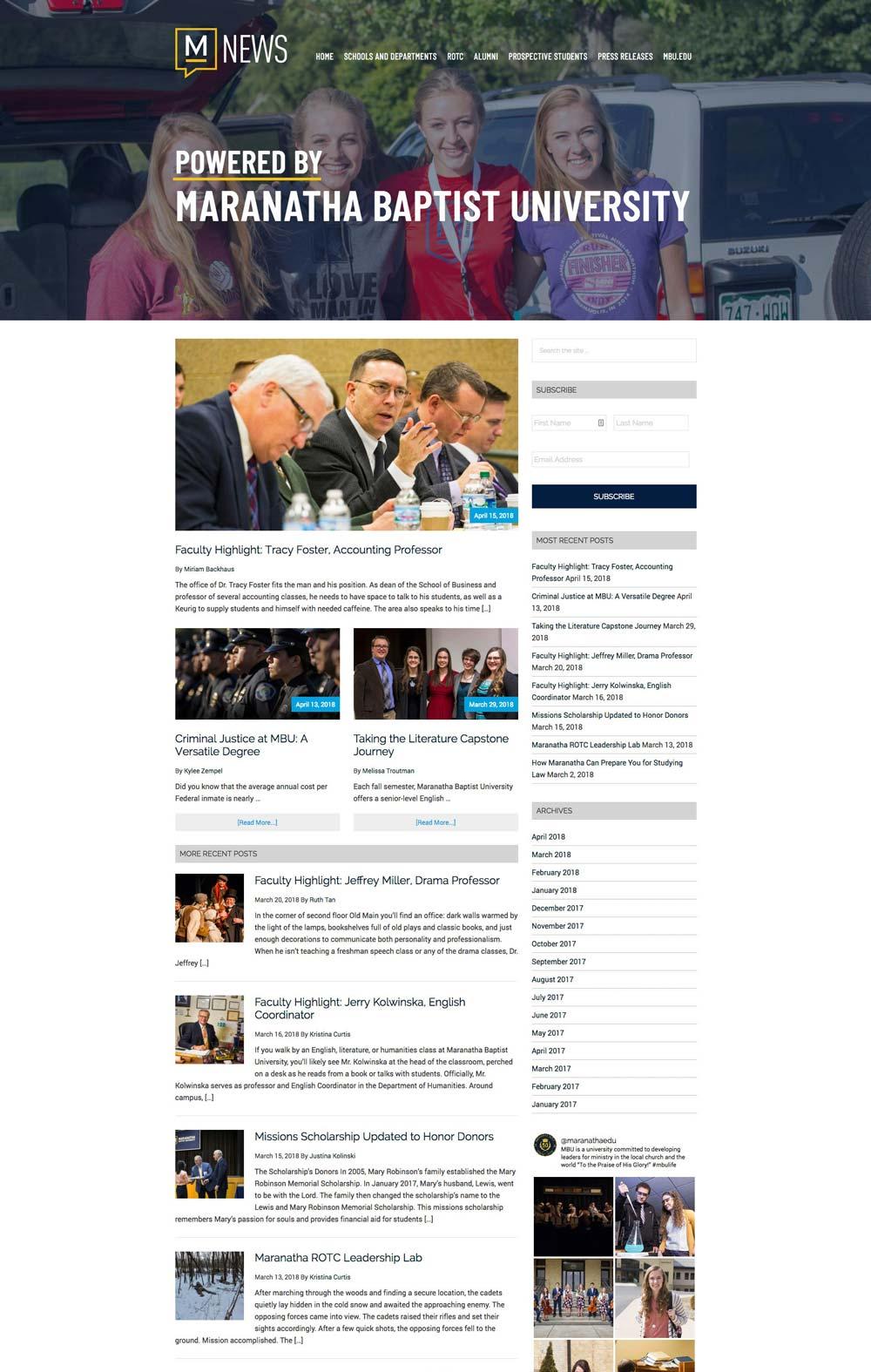 Marantha Baptist University News